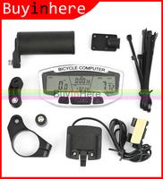 Waterproof LCD Digital Bike Cycling Bicycle Wired Computer Odometer Speedometer Clock Stopwatch Velometer Meter