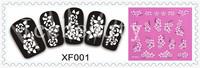 6sheets/lot Fashion 3D Design Tip Nail Art Nail Sticker Nail Decal Carving White Snow Flower Nail Tools