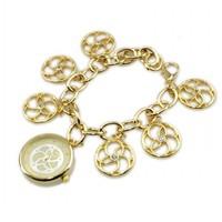Women Fashion Flower Quartz Watch Beautiful Blacelet Wristwatches For Ladies 85986