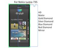 For Nokia Lumia 735 HD/Matte/Diamond Screen Protector Film Free Shipping