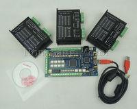 CNC mach3 USB 3 Axis Kit,3pcs TB6600 4.5A Stepper Motor Driver + one mach3 usb CNC 3 axis controller card