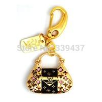 full capacity Wholesale and custom new usb 2.0 metal handbag memory card girl gifts pendrives usb flash drive bag
