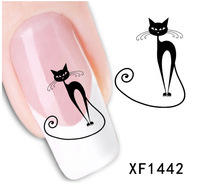 free shipping!! watermark Nails Decal Tip Nail Art Nail Sticker Women Girls Vacation Gift nail gel XF with tracking number
