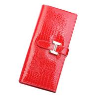 2014 new buckle purse crocodile pattern paint long bi-fold wallets leather wallet genuine leather bag