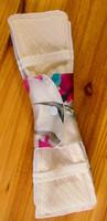 1 Natural Silk reusable menstrual pad& 1 Natural cotton Insert No allergies, no itching