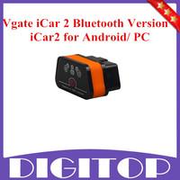 Newest Vgate iCar 2 Bluetooth Version ELM327 OBD2 Code Reader iCar2 for Android/ PC Black/Orange (Six Color Available)