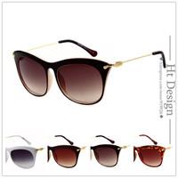 Cat Eye Vintage Metal Brand Design Sunglasses Women Fashion Spectacles Multicolor optic glasses gafas oculos de sol With LOGO
