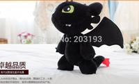 Free shipping 40cm How to train your dragon No teeth young night fury No teeth plush toy dragon