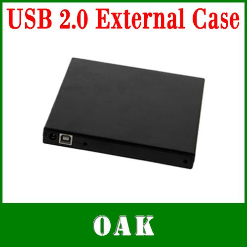 Free DHL - USB 2.0 SATA External Portable Outdoor Enclosure Case for Laptop CD/CR-W/DVD/DVD-W/Combo SATA Drive - 50pcs(China (Mainland))