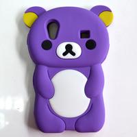 Free shipping Carton Cute Bear Silicone case For Samsung Galaxy ace s5830,For Samsung Galaxy ace Silicone Cases