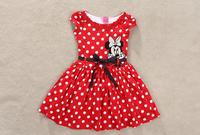 New 2014 Baby Girl Christmas Dress Girl's  Merry Christmas Dress Kids Cotton Mickey Minnie Casual Dress girl party