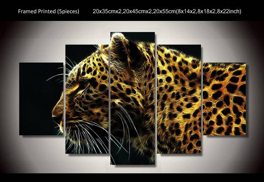 Vergelijk prijzen op cheetah painting online winkelen kopen lage prijs cheetah painting bij - Decoratie schilderij volwassen kamer ...