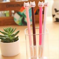 Small Fresh Lovely Little Cat  0.5mm Gel Pens For Office Writing 20pcs/set