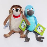 Retail 2pcs/lot Cartoon Regular Show Stuffed Animal Plush Rigby Mordecai Soft Toy With Tag Free Shipping