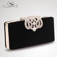 Cii Limited in stock female women evening bag in hand bag Austria crystal-encrusted shell packs wholesale handbag