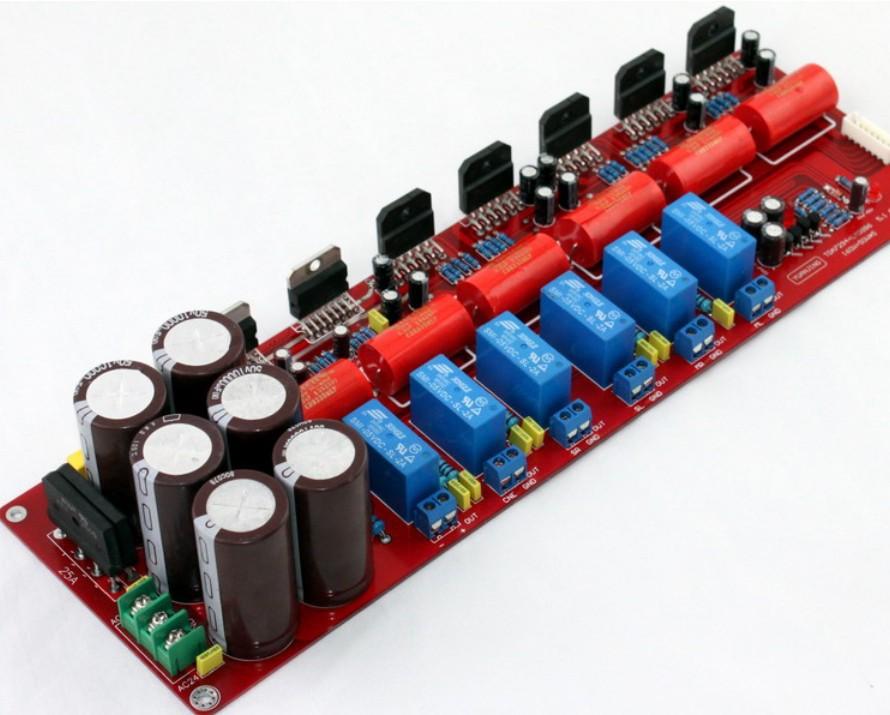 YJ dual 24VAC-0-24VAC TDA7294 + LM3886 5.1 channel power amplifier board 5*50W(4 ohm)+160W(8 ohm)(China (Mainland))