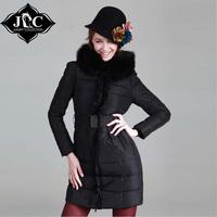 women's 2014 winter fox fur medium-long plus size slim fur coat down winter jacket