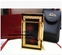 International Brand STDupont / Dupont lighters broke Jinsha rich red and gold gilt