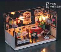 DIY wooden doll house new Christmas Birthday gift cute hand made toys mini dollhouse