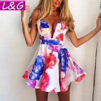 L&G Fashion Women Dress 2014 Hot Selling Sexy Deep V-Neck Backless Evening Party Dresses Casual Vestidos De Festa 10270