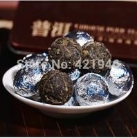 75g health Black tea Flavor Pu er  Pu'erh tea Mini Yunnan Puer tea Chinese tea Gift Tin box  green slimming coffee lose weight