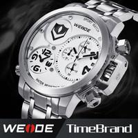 Luxury Brand WEIDE Fashion Watches Men 2015 MIYOTA Analog&Date Stopwatch Men Full Steel Watch Waterproof Men Wrist Watch WG93002
