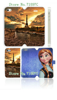 popular retro style Eiffel Tower 5designs Luxury wallet leather Flip cover with card case for iPhone 5S 5