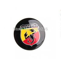 Brand New 56.5 MM Car Steering Wheel Center Hub Caps Emblem Badge Decal Symbol Wheels Stickers For Abarth 4pcs/set