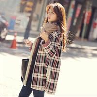 Fashion jacket women  women coat Autumn clothing jackets Cotton mix overcoat Designer brand female clothes coats