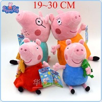 6 Style Peppa Pig Family Daddy Mummy Pig Toys ballet Peppa George Pirate Pepa Plush Doll Baby Christmas Gift Children Kids Toys