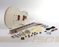 Solid Mahogany Body DIY Electric Guitar Builder Kit with Flamed Maple Veneer