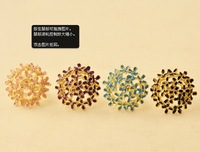 Wholesale 100pcs/lot Free Shipping Korean version of the four-leaf flower bouquet jewelry diamond flower ring
