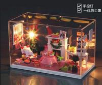 Christmas Gift DIY Doll House Model Building Kits Free Shipping educational toys