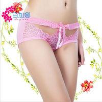 Sex cool stitchwork women underwear breathable bowknot enviromental briefs for girls