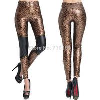 sexy leopard patchwork women's leggings pant