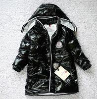 2014 children's winter jackets  Boys girls fashion high-grade glossy down jacket  British style children clothing  Free shipping