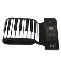 Hot Sale!!Free Shipping By DHL/EMS 4pcs/lot 88 Key Electronic Piano Keyboard Silicon Flexible Roll Up Piano with Loud Speaker