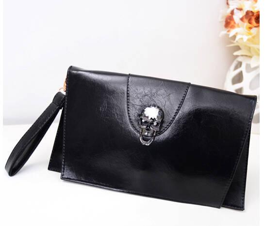 hot sale women envelope bag skull PU ladies handbags shoulder messenger bag chain women clutch bag female envelope clutch Y531(China (Mainland))