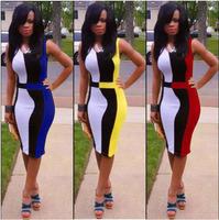 3 colors sheath O-neck 4 size X/M/L/XL sexy dress fashion design club dresses O-neck sexy dresses for women or lady