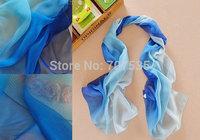 160CM long fashion gradient color matching women wrap scarf /scarves chiffon georgette 24 colors winter shawl wrap