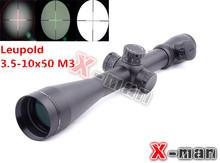 2014 NEW Leupold Mark 4 M3 3.5-10x50 Optical Red & Green Diffope RifleScope W/ Rings11mm/21mm Tactical Optics Scopes/Riflescope(China (Mainland))