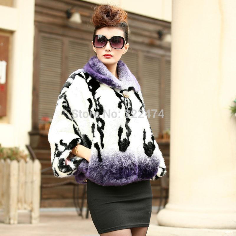 jacket of mink shawl winter warm womens faux mink fur long coat sleeve mink coats fur and leather coats for women womens coats(China (Mainland))