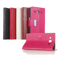 For Samsung Galaxy Core 2 Leather Case , crazy horse Leather Card Holder Case for Samsung Galaxy Core 2 G355H