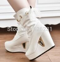 2014 New Autumn Women Ankle Boots Wedge Platform Pumps High Heels Shoes Snow Boots A09