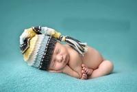 Free shipping Cute Baby Elf Hat Handmade crochet Baby Hat newborn Photography Prop 100% Cotton 0-12M