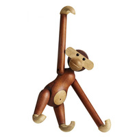 Kay Bojesen Style Small Monkey handcraft very funny wood monkey wood carving classic decoration animals Simulation birthday gift