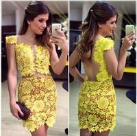 vestidos new 2014 spring girl winter dress women lace dress crochet casual dress vestido de festa bandage dress D21