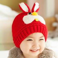 2015 Rushed Winter Autumn Rabbit Design Lovely Ears Newborn Crochet Hat Baby Boy Girl Cute Kids Christmas Handmade Caps Freesize