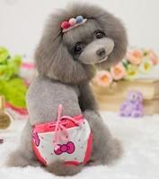 Retail  Fashion Dog Physiological Pants Pet Clothes Soft Cotton Dog Underwear Pet Clothes Star Bow Tie Design Dog Clothes
