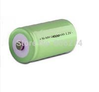 Free shipping 10pcs/lot   C/R14 C Size Rechargeable Batteries NiMH 4500mAh battery